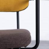 Esszimmerstuhl aus Textil und Metall mit Armlehnen Lala, Miniaturansicht 5