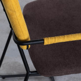 Esszimmerstuhl aus Textil und Metall mit Armlehnen Lala, Miniaturansicht 6