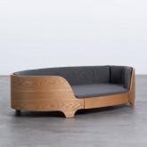 Ovales Holzbett für Katzen und Hunde Prico , Miniaturansicht 1