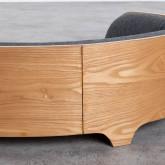 Ovales Holzbett für Katzen und Hunde Prico , Miniaturansicht 6
