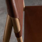 Hoher Hocker aus Leder Kove(72 cm), Miniaturansicht 8