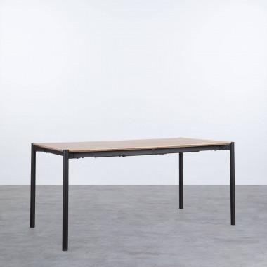 Ausziehbarer Esstisch aus MDF und Metall (160-200x90 cm) Arbo