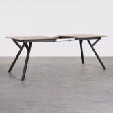 Ausziehbarer Esstisch aus MDF und Metall (160-200x90 cm) Vedra, Miniaturansicht 4