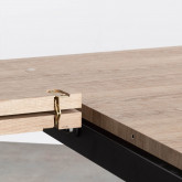 Ausziehbarer Esstisch aus MDF und Metall (160-200x90 cm) Vedra, Miniaturansicht 10