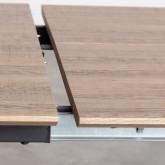 Ausziehbarer Esstisch aus MDF und Metall (160-200x90 cm) Vedra, Miniaturansicht 11