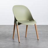 Esszimmerstuhl aus Polypropylen und Holz Odwor, Miniaturansicht 1