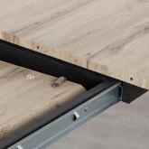 Ausziehbarer Esstisch aus MDF und Metall (160-200x90 cm) Nates, Miniaturansicht 4