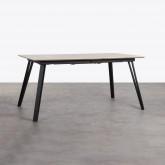 Ausziehbarer Esstisch aus MDF und Metall (160-200x90 cm) Nates, Miniaturansicht 1