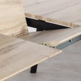 Ausziehbarer Esstisch aus MDF und Metall (160-200x90 cm) Nates, Miniaturansicht 10