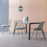 Ausziehbarer Esstisch aus MDF und Metall (160-200x90 cm) Nates, Miniaturansicht 3