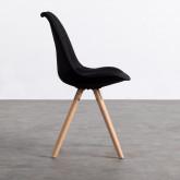 Esszimmerstuhl aus Stoff und Holz Stella Round Total Fabric, Miniaturansicht 2