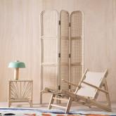 Quadratischer Beistelltisch aus Naturrattan (40x40 cm) Klaipe, Miniaturansicht 2