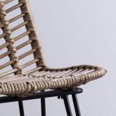 Hoher Hocker aus Natur Rattan Italia (66 cm), Miniaturansicht 5