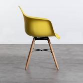 Esszimmerstuhl aus Polypropylen und Holz Fine Arms mit Kissen, Miniaturansicht 2