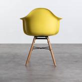 Esszimmerstuhl aus Polypropylen und Holz Fine Arms mit Kissen, Miniaturansicht 3