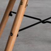 Esszimmerstuhl aus Polypropylen und Holz Fine Arms mit Kissen, Miniaturansicht 5