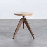 Niedriger/mittelhoher Hocker aus Stahl und Holz Pats (46-56,5 cm), Miniaturansicht 4