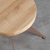 Niedriger/mittelhoher Hocker aus Stahl und Holz Pats (46-56,5 cm), Miniaturansicht 5