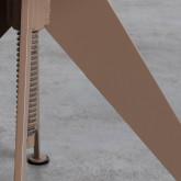Niedriger/mittelhoher Hocker aus Stahl und Holz Pats (46-56,5 cm), Miniaturansicht 6