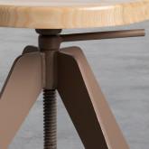 Niedriger/mittelhoher Hocker aus Stahl und Holz Pats (46-56,5 cm), Miniaturansicht 7
