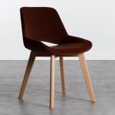 Esszimmerstuhl aus Samt und Holz Silas, Miniaturansicht 1