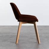 Esszimmerstuhl aus Samt und Holz Silas, Miniaturansicht 2