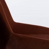 Esszimmerstuhl aus Samt und Holz Silas, Miniaturansicht 4
