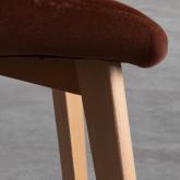 Esszimmerstuhl aus Samt und Holz Silas, Miniaturansicht 5