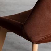 Esszimmerstuhl aus Samt und Holz Silas, Miniaturansicht 6