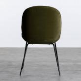 Esszimmerstuhl aus Samt und Stahl Linus, Miniaturansicht 4