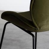 Esszimmerstuhl aus Samt und Stahl Linus, Miniaturansicht 7