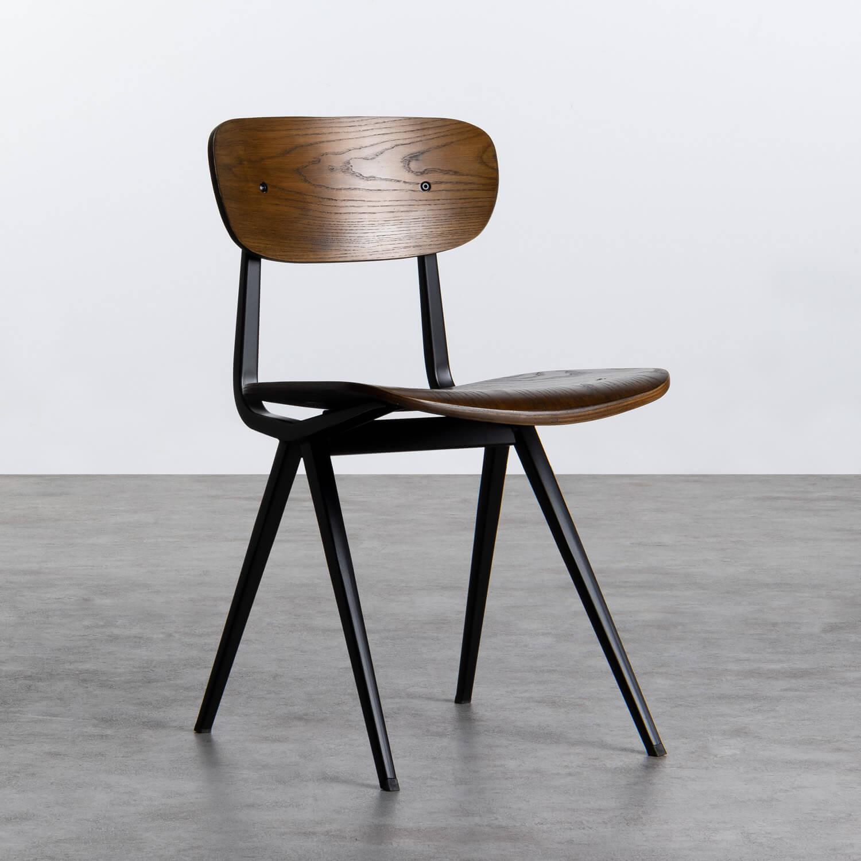 Esszimmerstuhl aus Holz und Stahl Scuola, Galeriebild 1