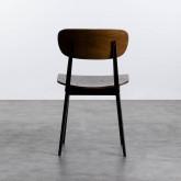 Esszimmerstuhl aus Holz und Stahl Scuola, Miniaturansicht 5
