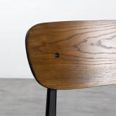 Esszimmerstuhl aus Holz und Stahl Scuola, Miniaturansicht 6