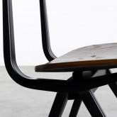 Esszimmerstuhl aus Holz und Stahl Scuola, Miniaturansicht 7