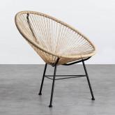 Outdoor Stuhl aus Polyethylen und Stahl Copacabana Twist, Miniaturansicht 1