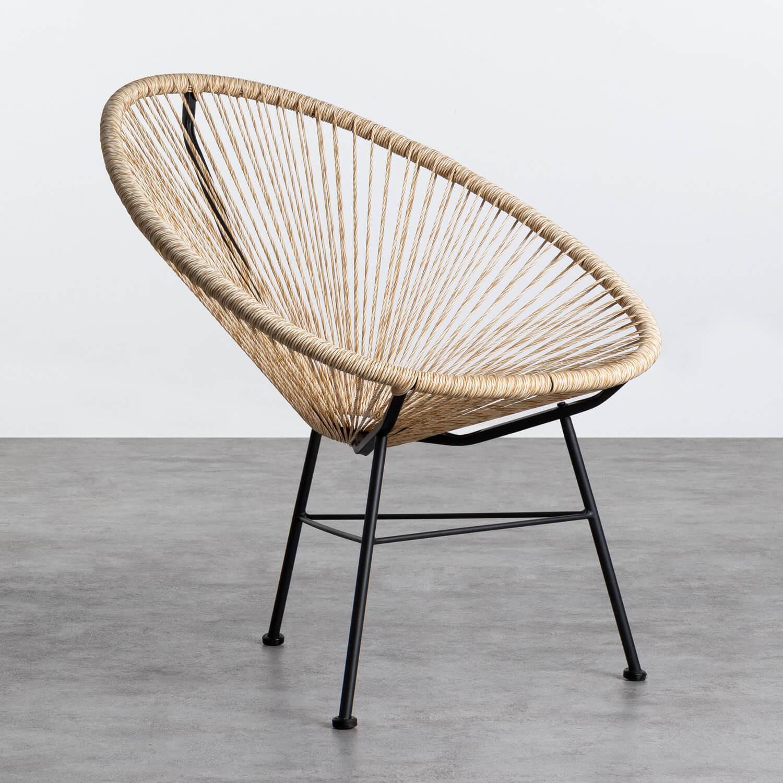 Outdoor Stuhl aus Polyethylen und Stahl Copacabana Twist, Galeriebild 1