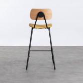 Hoher Hocker Tallor aus Kunstleder und Holz (66 cm), Miniaturansicht 4