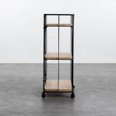 Wagen aus Holz und Stahl (62x31 cm) Ehud, Miniaturansicht 2