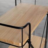 Wagen aus Holz und Stahl (62x31 cm) Ehud, Miniaturansicht 4