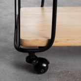Wagen aus Holz und Stahl (62x31 cm) Ehud, Miniaturansicht 5