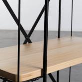 Wagen aus Holz und Stahl (62x31 cm) Ehud, Miniaturansicht 6