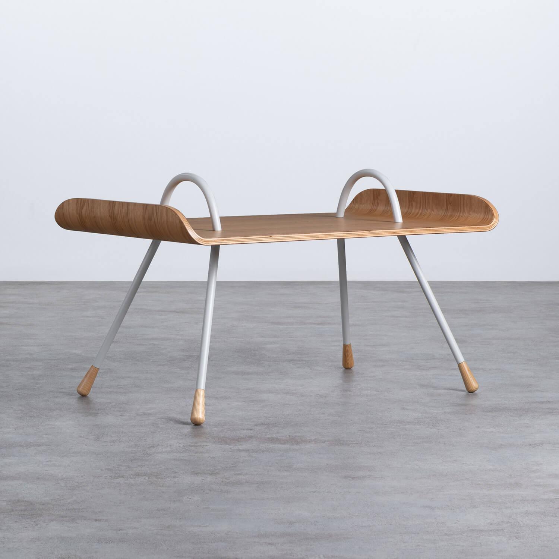 Beistelltisch Rechteckig aus MDF und Metall (90,5x55 cm) Tina, Galeriebild 1