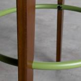 Hoher verstellbarer Hocker aus Holz Role (71-77 cm), Miniaturansicht 6