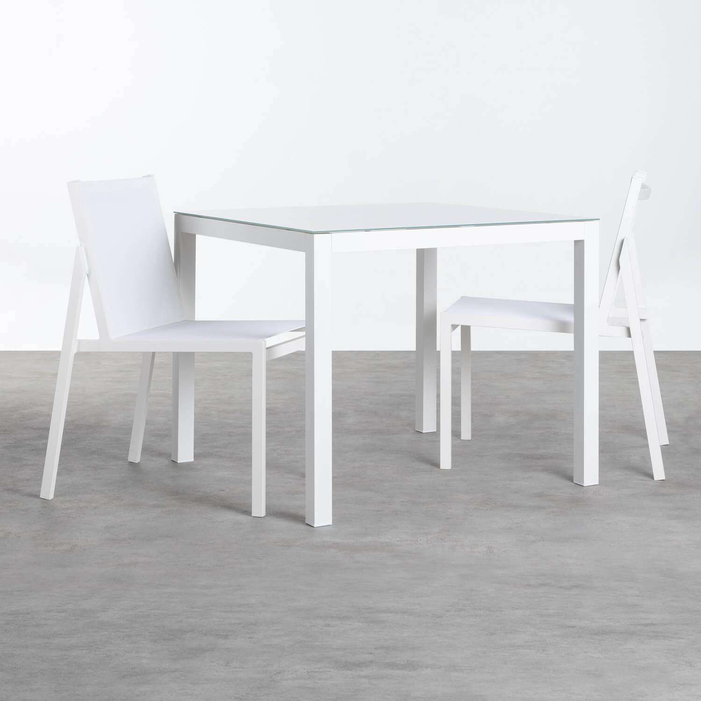 Garten-Set aus Aluminium und Stoff Beldin, Galeriebild 1
