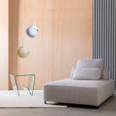 Quadratischer Beistelltisch mit Zeitschriftenständer aus Glas (50x50 cm) Vidre Line, Miniaturansicht 2