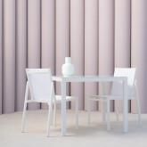 Outdoor Tisch aus Aluminium Quadratisch (90x90 cm) Bledin , Miniaturansicht 2