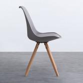 Esszimmerstuhl aus Polypropylen und Holz Stella, Miniaturansicht 2