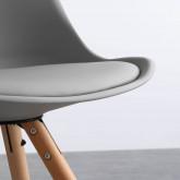 Esszimmerstuhl aus Polypropylen und Holz Stella, Miniaturansicht 4