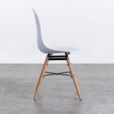 Esszimmerstuhl aus Polypropylen und Holz Belli, Miniaturansicht 3
